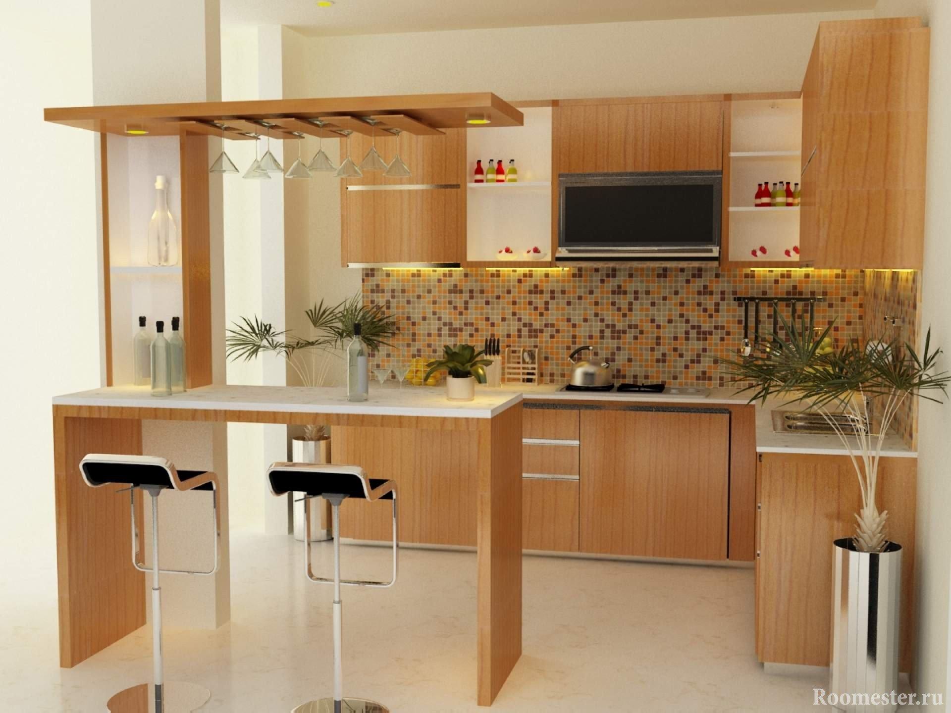 Маленькие кухни с барной стойкой своими руками фото