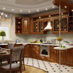 Подсветка на потолке кухни