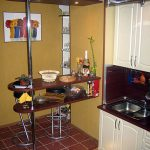 Подсветка в полу кухни