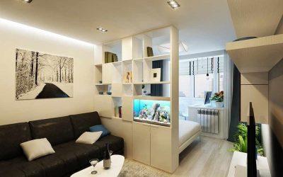 Дизайн однокомнатной квартиры 40 кв. м — 100 фото примеров и 7 проектов