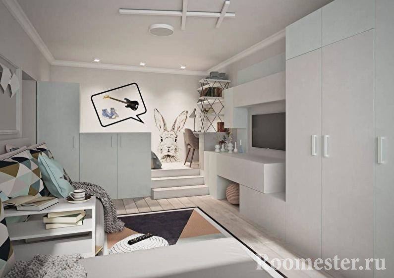 Интерьер со светлой мебелью