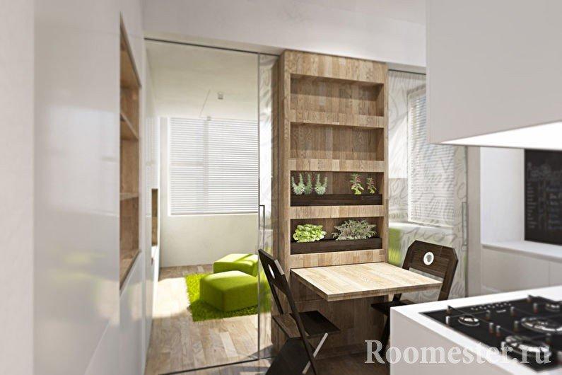 Кухня с белым интерьером