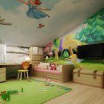 Сказочные пейзажи на стенах детской