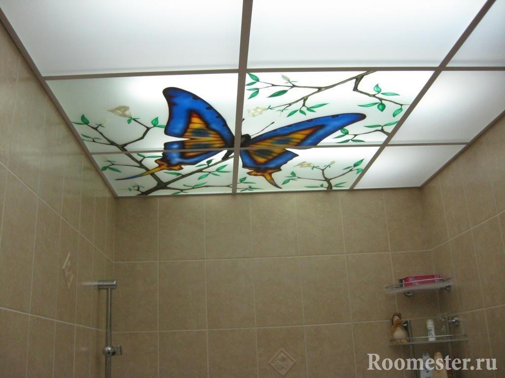 Бабочка на потолке