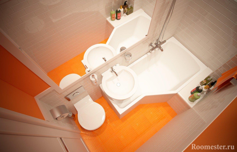 Дизайн маленькая ванная фото