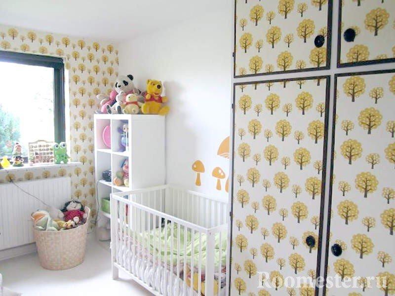 Как обновить шкаф в детской своими руками 9