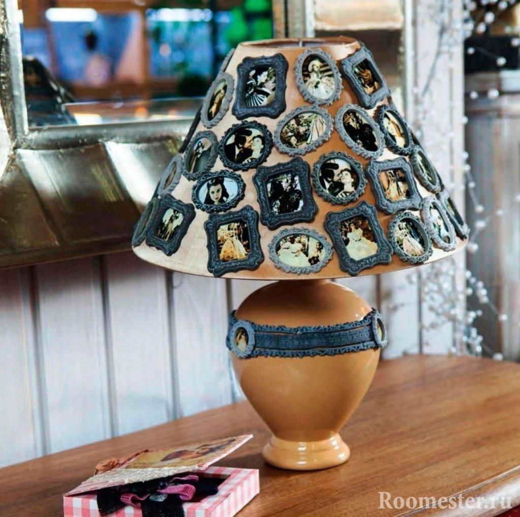 Абажур к настольной лампе своими руками фото