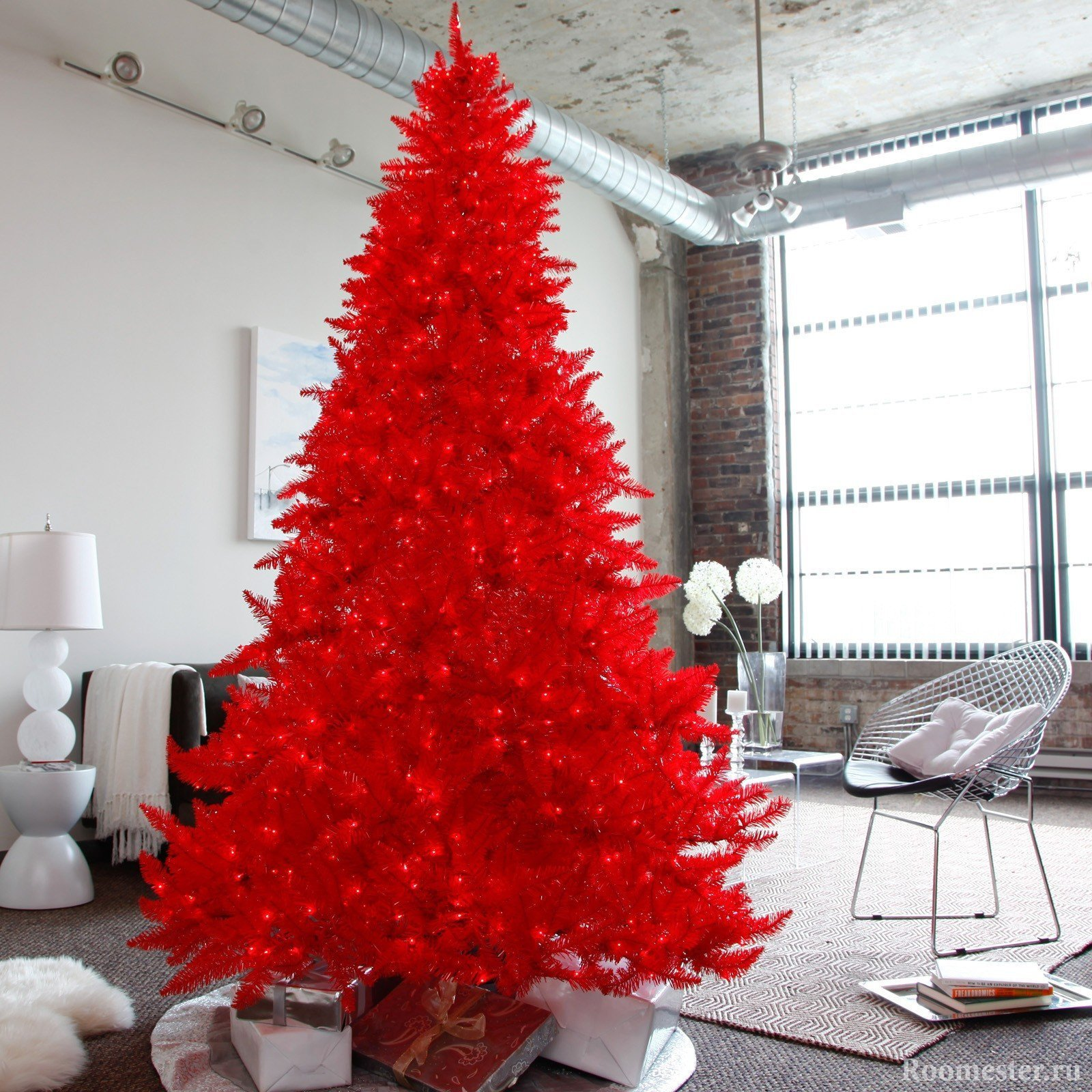 Красная елка