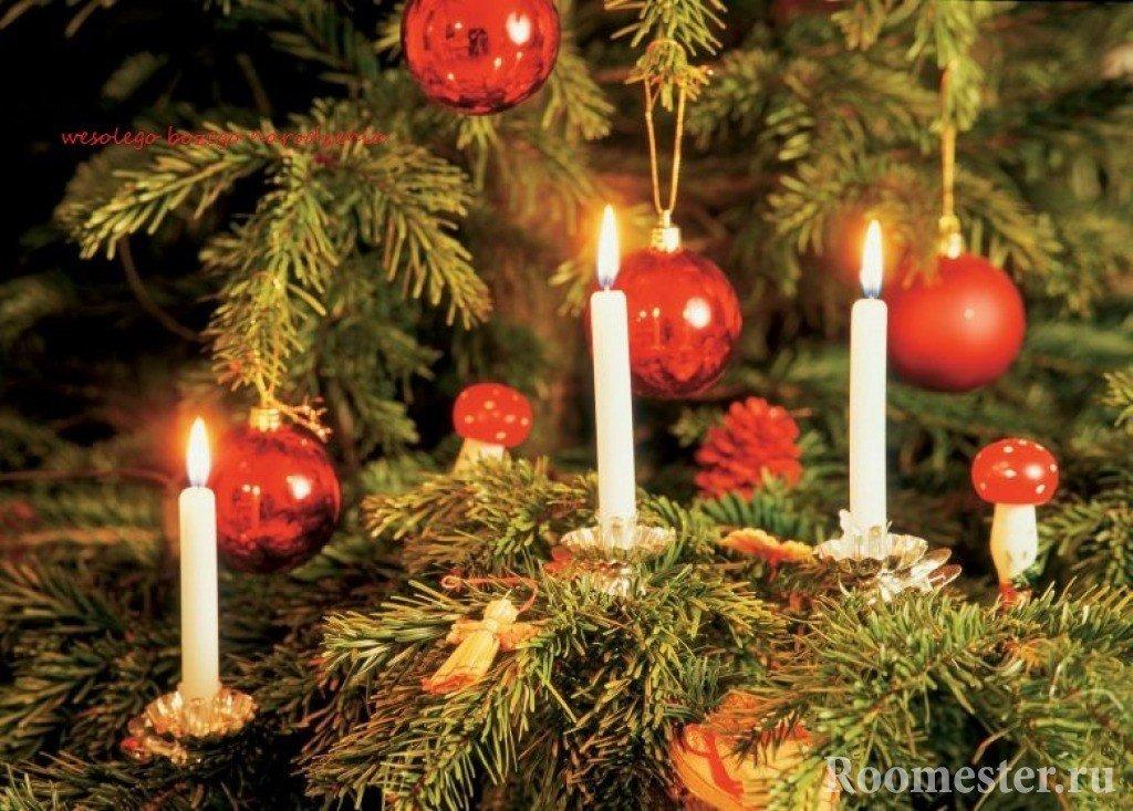Свечи на елке