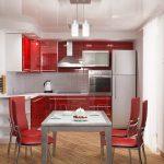 Столовая напротив кухни