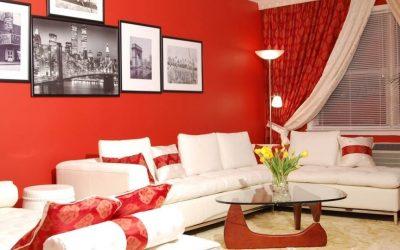Красный цвет в интерьере +85 фото примеров