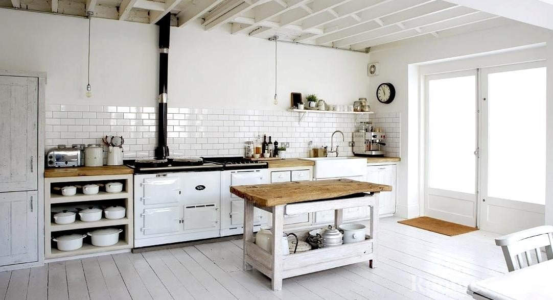 Kuchen Ideen Weisse Rustikale Kuche