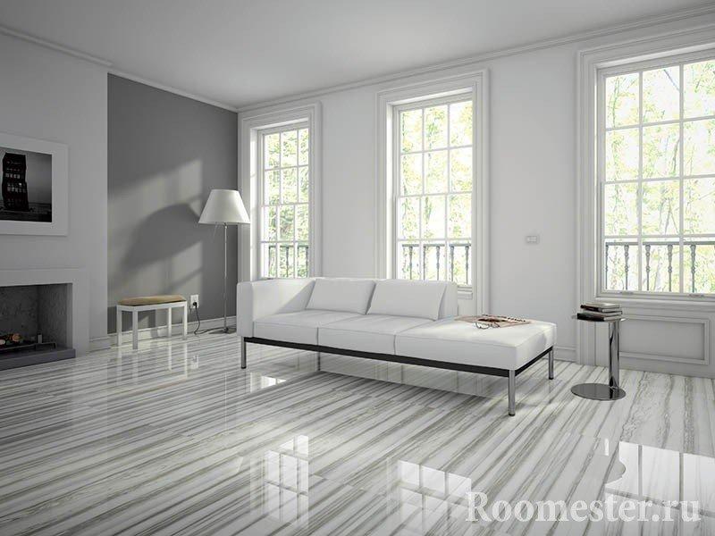 Шикарный пол в гостиной