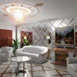 Зеркало в интерьере 100 фото декора: гостиной, потолка, стены