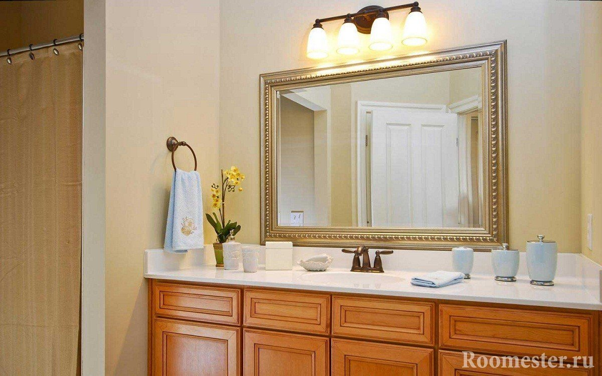 Bathroom vanity and mirror ideas