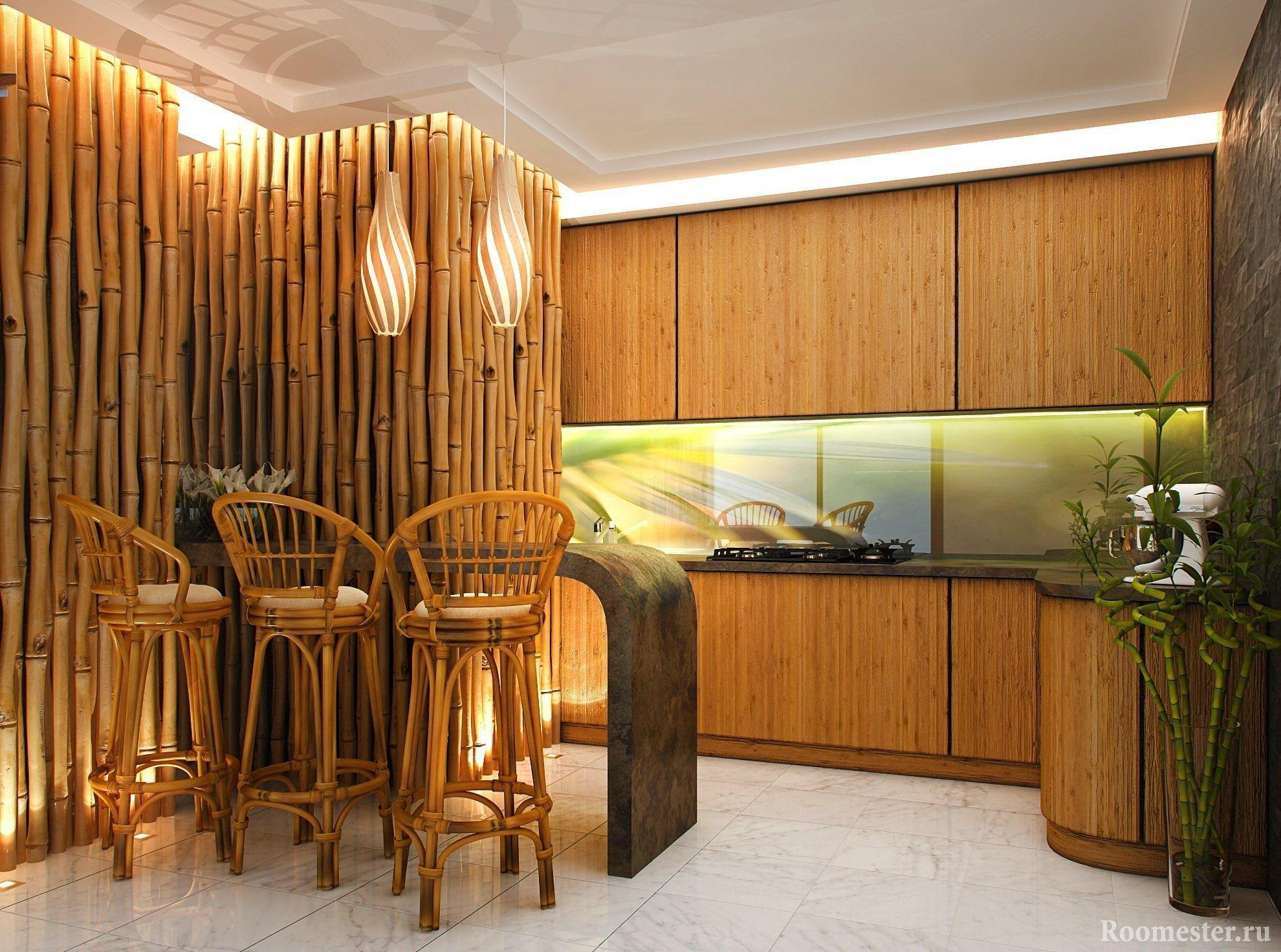 Бамбук в дизайне дома