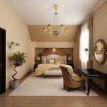 Шикарный кофейный интерьер спальни