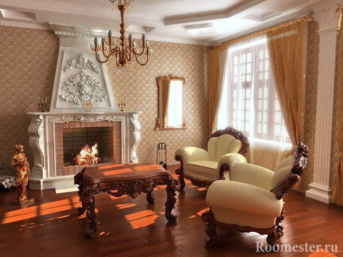 Дорогая мебель в гостиной