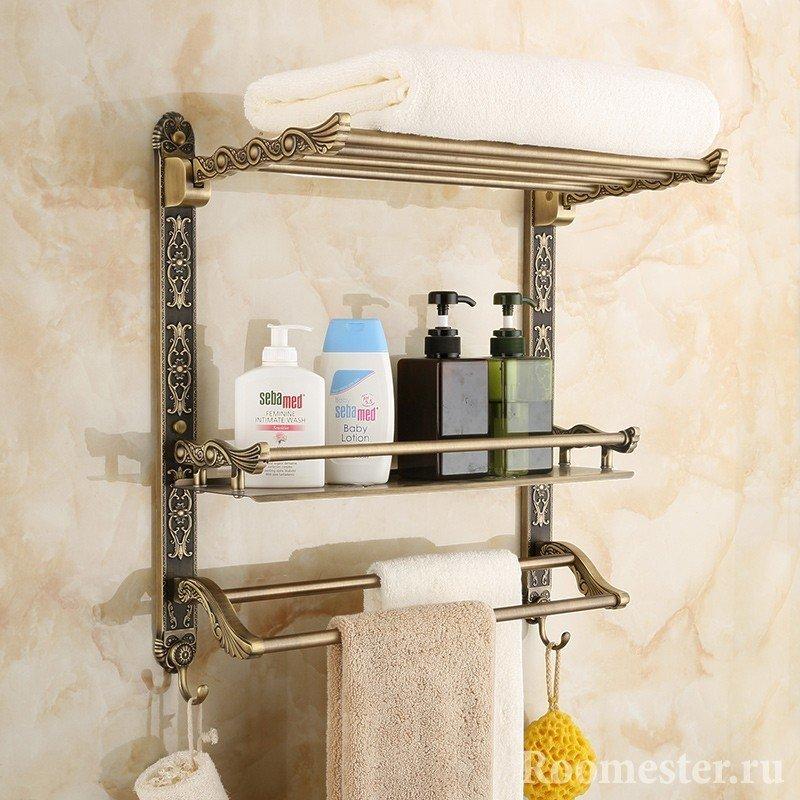 Держатель для полотенец в ванную комнату своими руками 134