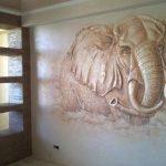 Слон из штукатурки