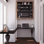 Оригинальный дизайн кабинета на балконе