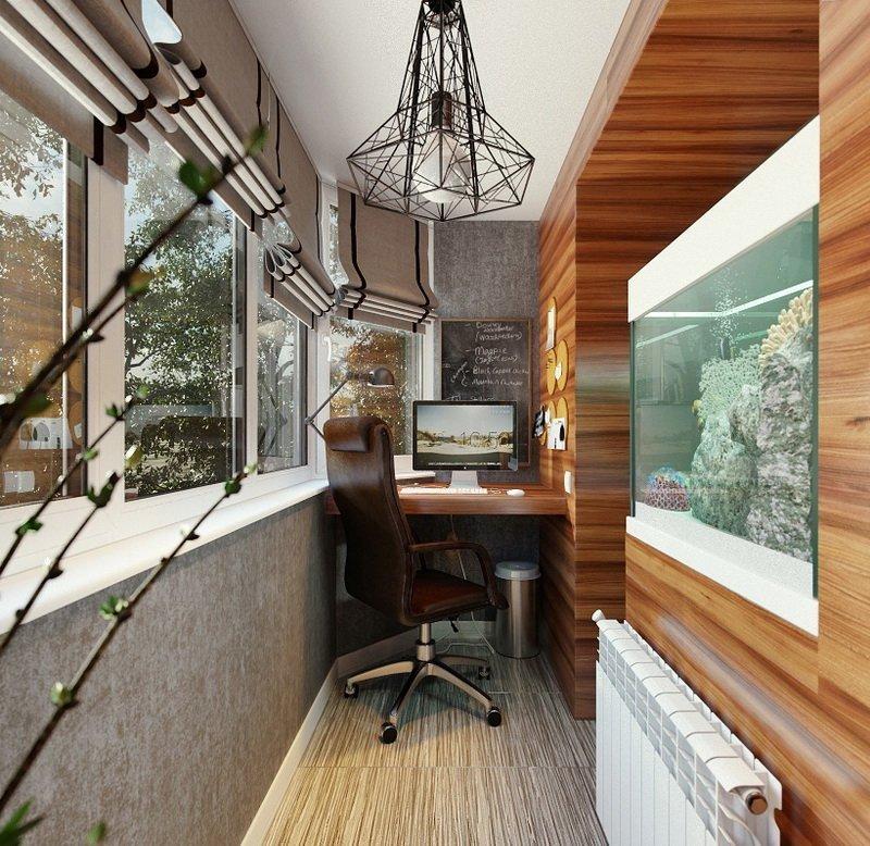 Оригинальный дизайн балкона