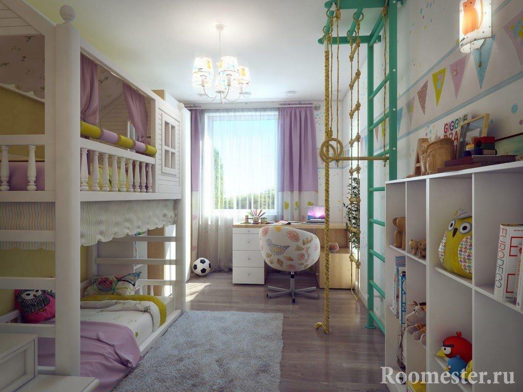 Шведская лестница в детской