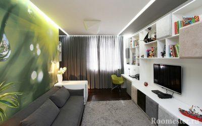 Дизайн прямоугольной комнаты +113 фото идей обстановки
