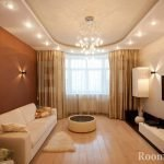 Шикарный потолок в гостиной