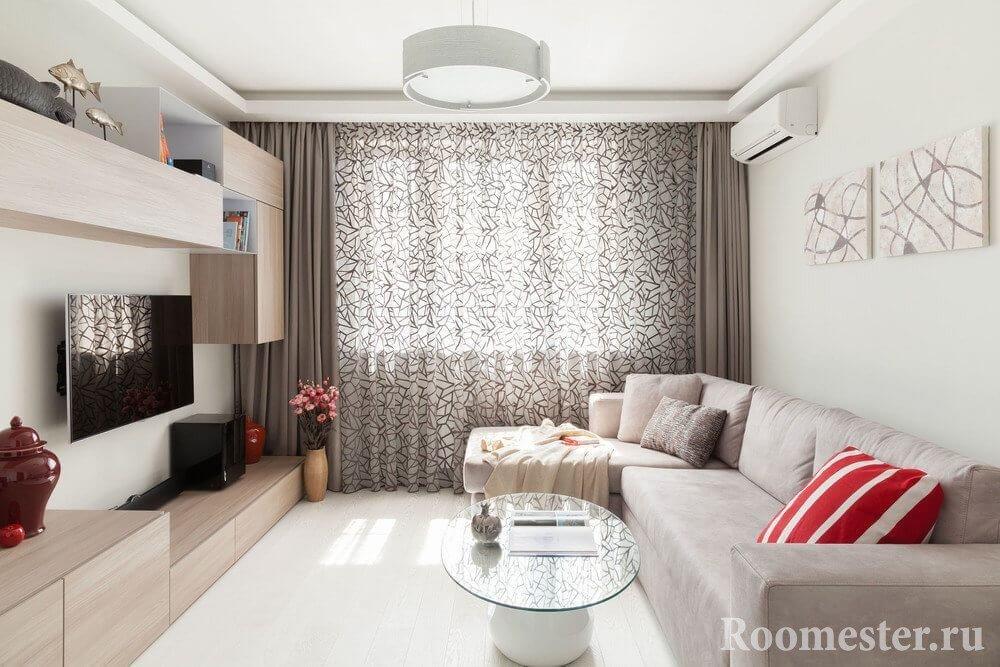 Модульная картина на стене в гостиной