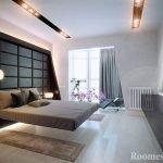Спальня с интересным дизайном