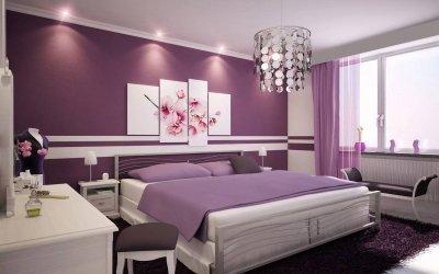 Дизайн спальни в сиреневых тонах — подборка удачных интерьеров