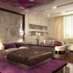 Комната с зонами спальни и гостиной
