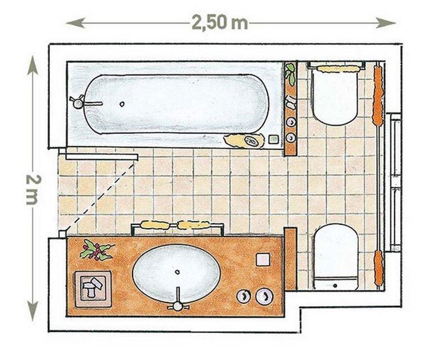 Схема планировки ванной 5 кв м