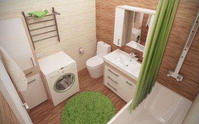 Дизайн ванной комнаты 5 кв м — планировка и интерьер