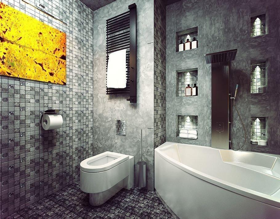 Интерьер ванной в стиле эклектика