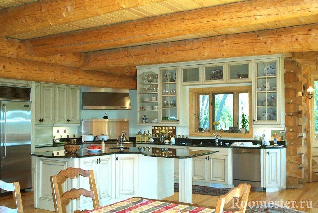 Кухня со светлой мебелью