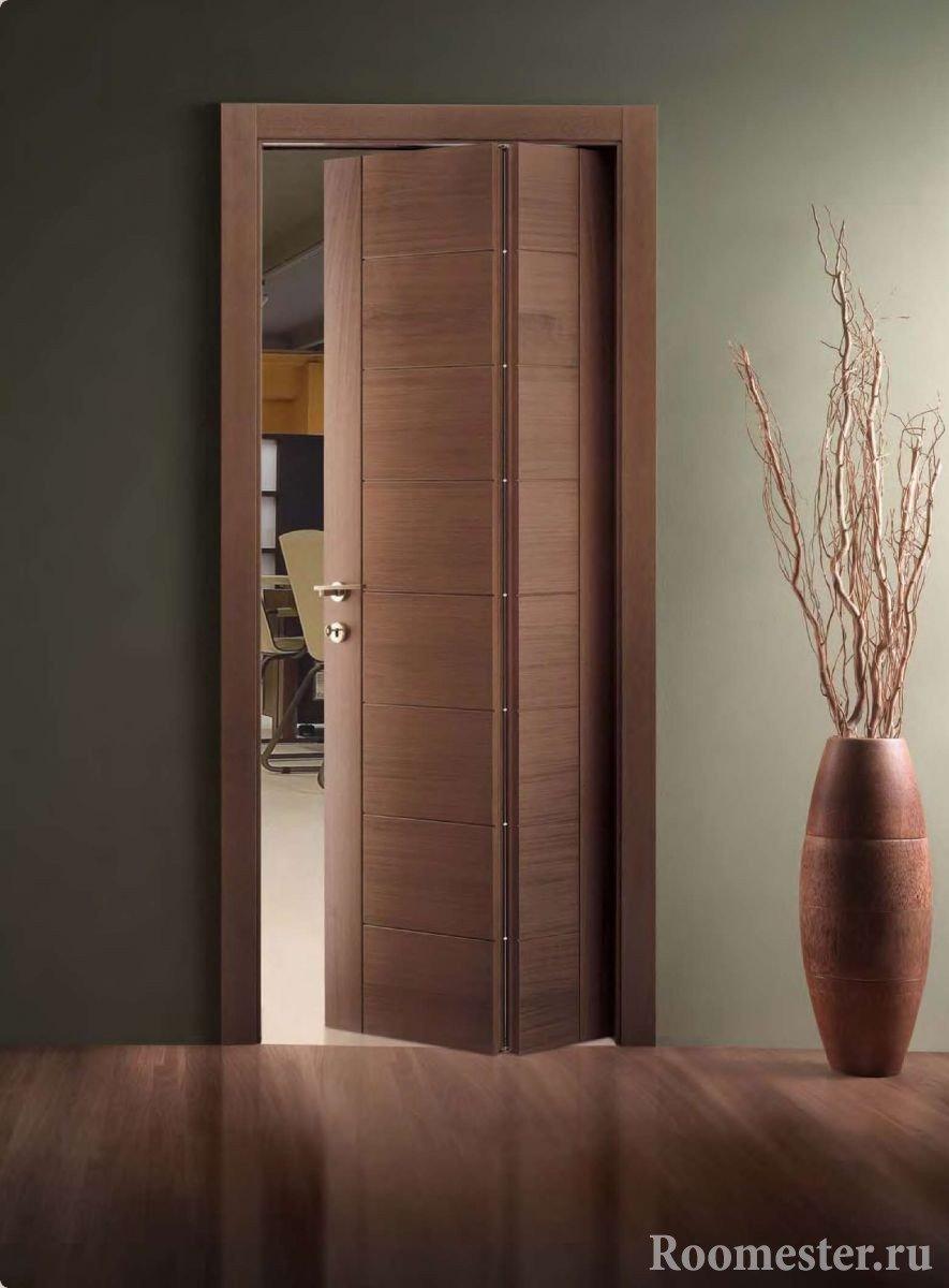 Красивые складные двери в интерьере