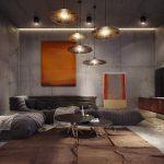 Оригинальные люстры в гостиной