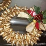 Рождественский венок из макарон