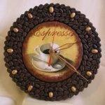 Кофейные зерна на циферблате