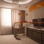 Интересное цветовое оформление кухонной мебели