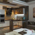Плитка под мозаику в интерьере кухни