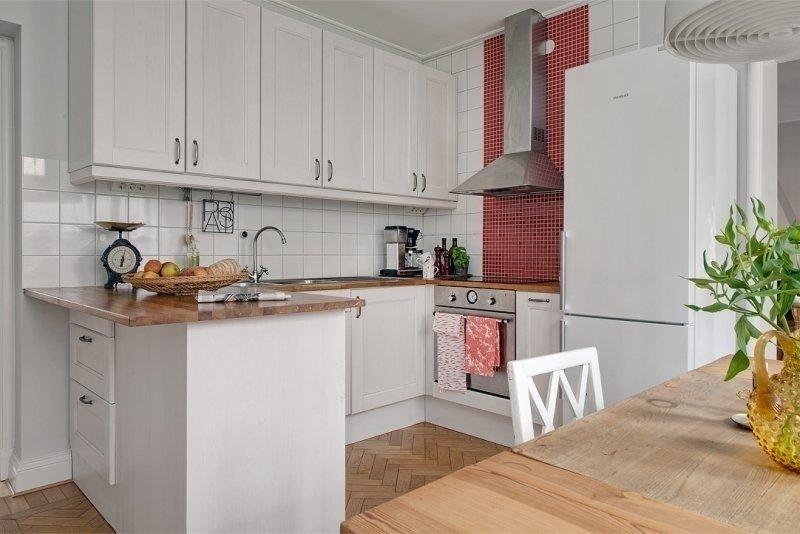 Дизайн кухни 16 кв м с полуостровом