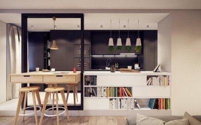 Дизайн кухни-студии +115 фото примеров интерьера