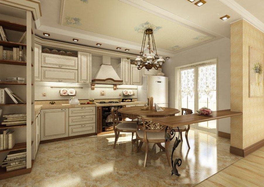 Кухня-студия в стиле прованс