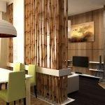 Бамбук в интерьере кухни