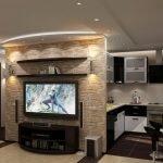 Потолок с подсветкой в интерьере