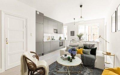 Дизайн квартиры 50 кв м +110 фото примеров и 2 проекта интерьера