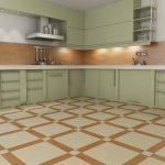 Фисташковая мебель на кухне